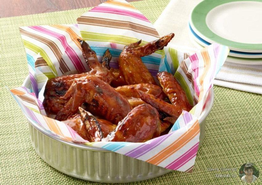 маринад для крылышек в духовке с соевым соусом и медом