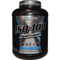 Dymatize Nutrition, ISO•100 Hydrolyzed 100% Whey Protein Isolate, Gourmet Vanilla, 5 lbs (2.27 kg)