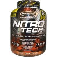 Muscletech, Серия Performance, Nitro-Tech, сывороточный изолят + наращивание мышечной массы, со вкусом молочного шоколада, 3,97 фунта (1,80 кг)