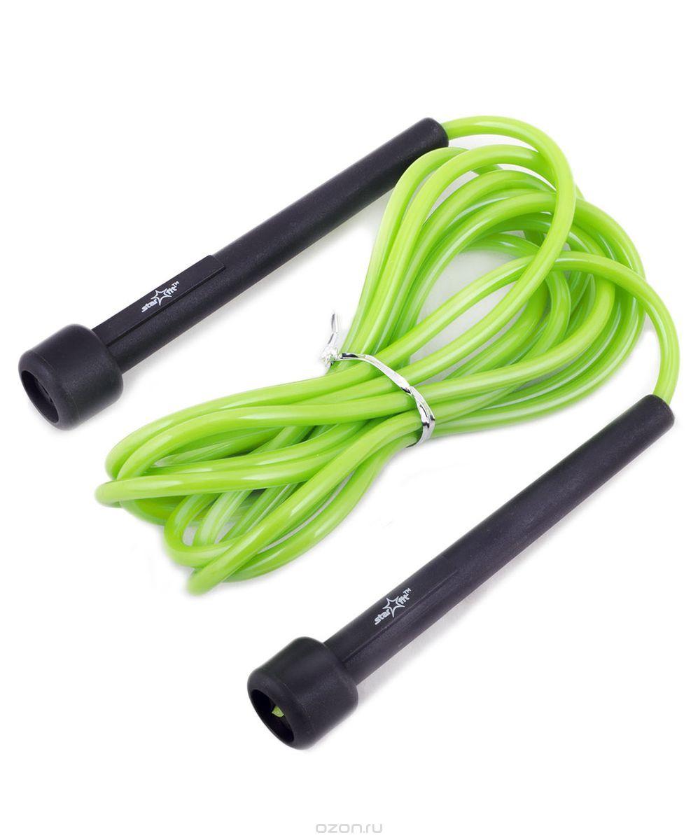 """Скакалка Starfit """"RP-101"""", цвет: зеленый, черный, длина 3 м"""