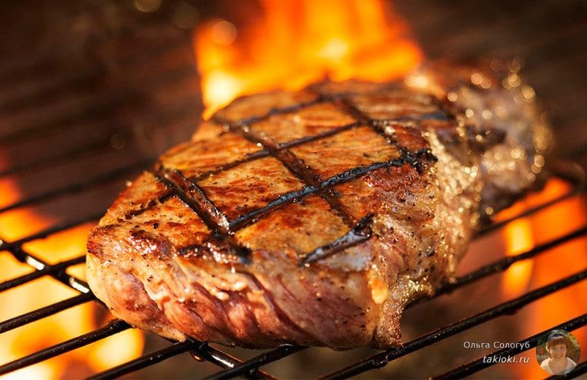 Готовим говяжий стейк на гриле