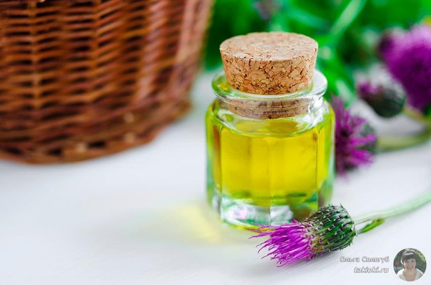 Репейное масло для восстановления волос
