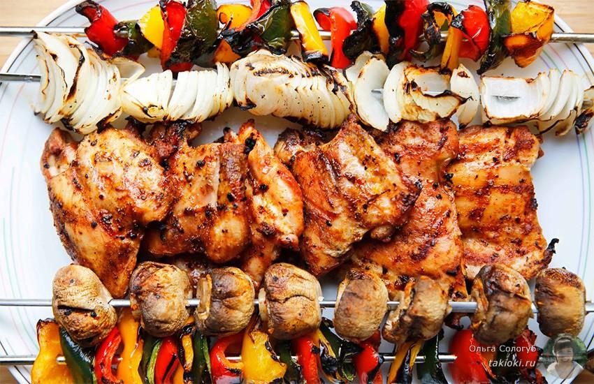 как приготовить шашлык из курицы за 1,5 часа