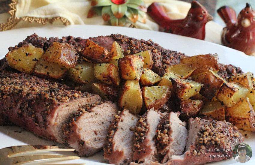 Маринад для свинины для запекания в духовке одним куском или кусочками в фольге, в рукаве, с горчицей, с соевым соусом, с картошкой