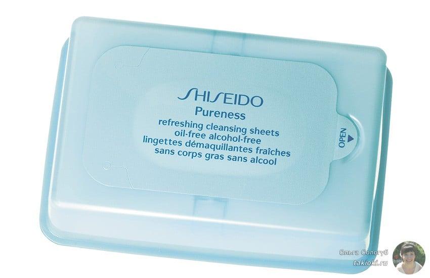 салфетки от shiseido