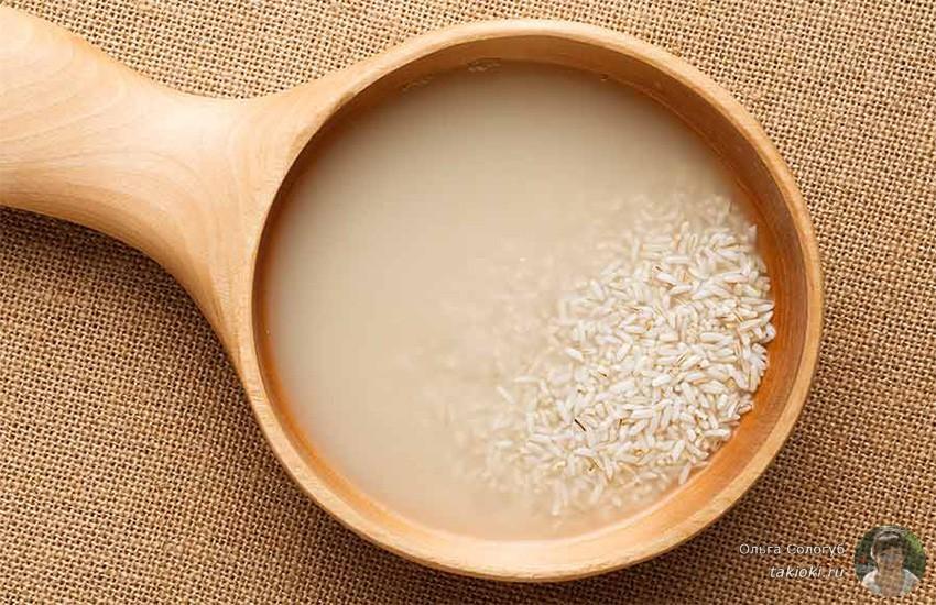 для чего рисовая вода