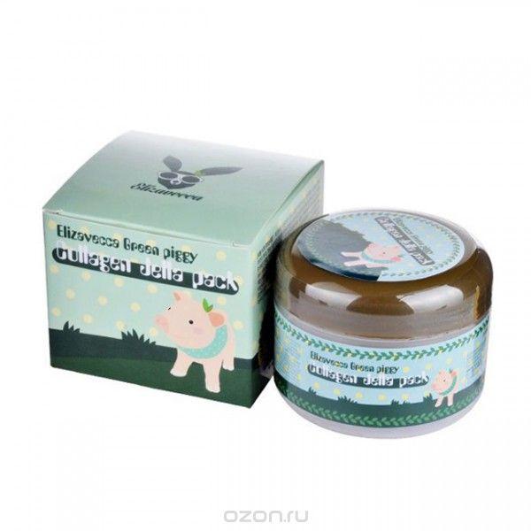 Elizavecca Высококонцентрированная коллагеновая маска Green Piggy Collagen Jella Pack, 100 мл