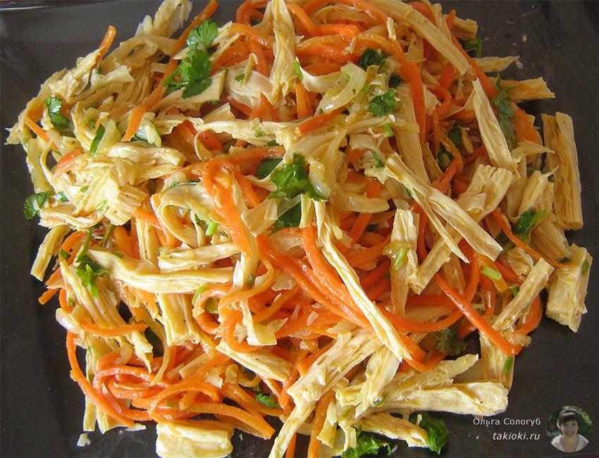 соевая спаржа с морковкой по-корейски