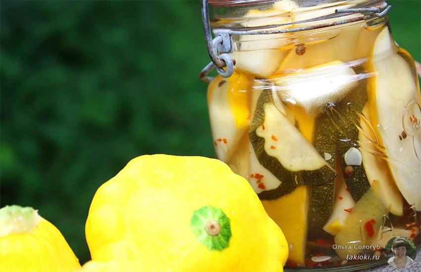 пошаговый рецепт патиссоны с лимонной кислотой