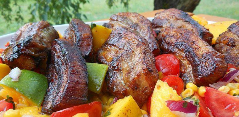 Как приготовить свиные ребрышки на гриле в маринаде терияки — пошаговый рецепт с фото