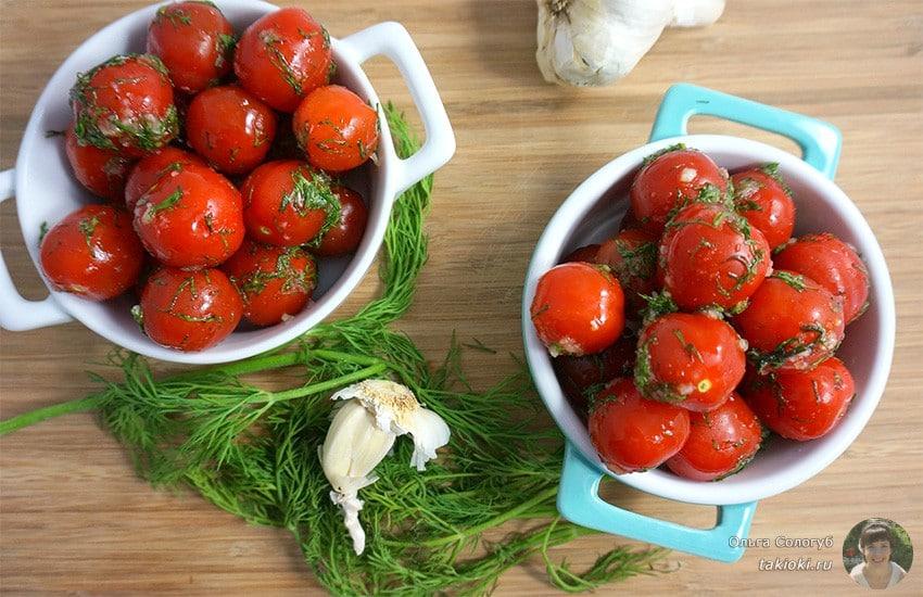 помидоры черри маринованные