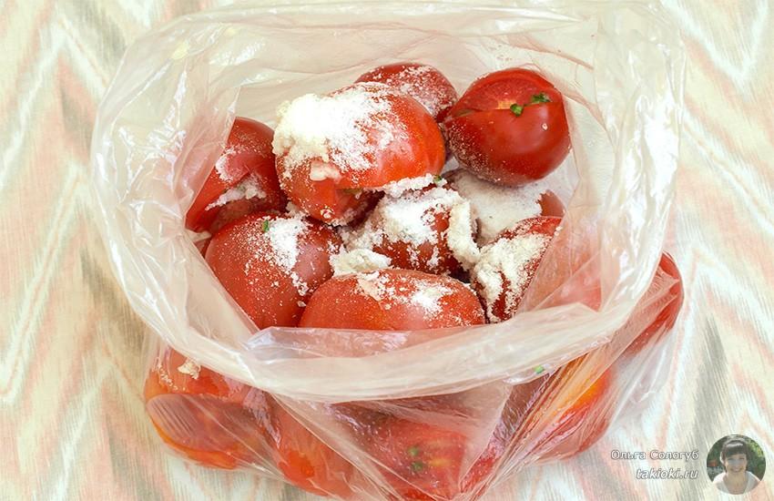 маринуем томаты в пакете