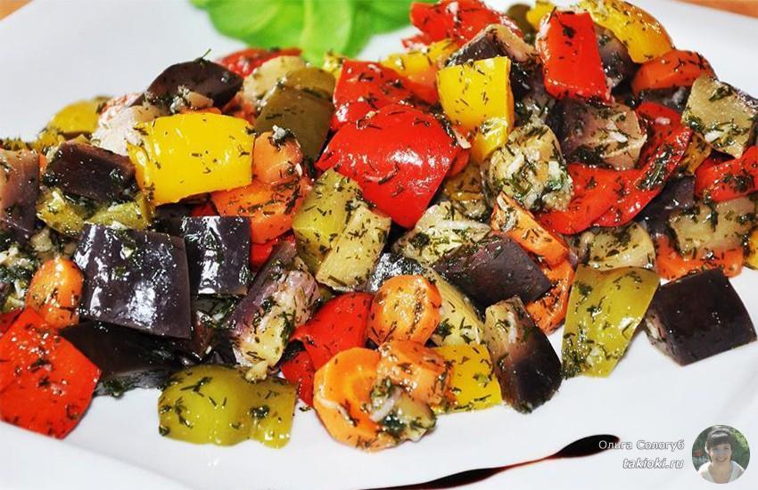 салат из маринованных баклажанов за сутки