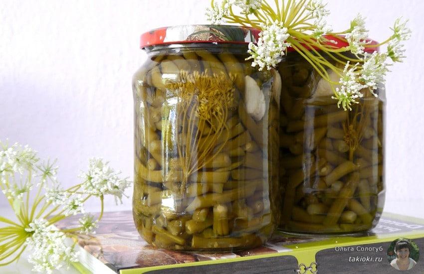 рецепты салатов из спаржевой фасоли на зиму рецепты