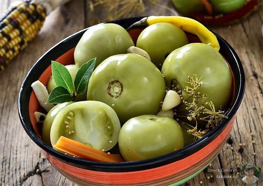 Как мариновать зеленые помидоры