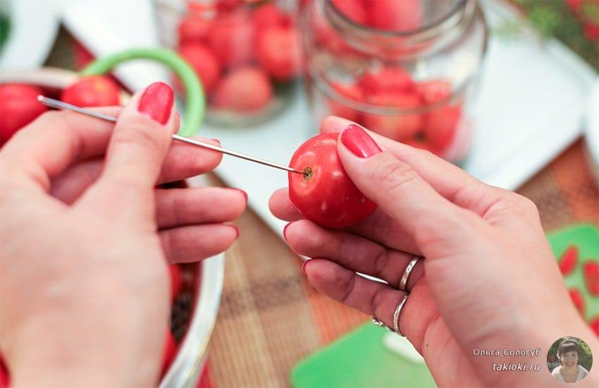 помидоры на зиму маринованные