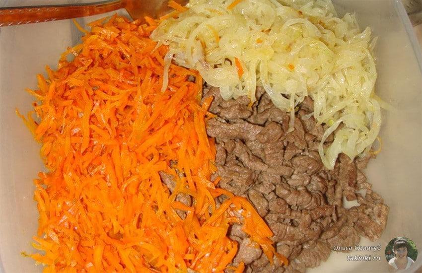 салат из куриных сердечек по-корейски